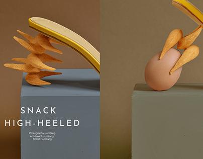 snack & high-heeled