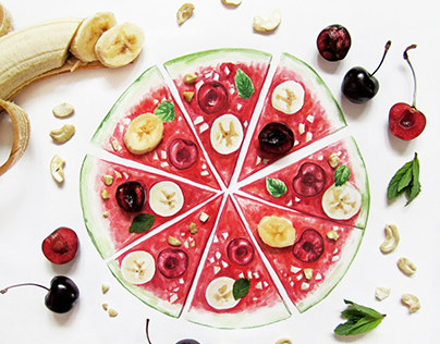 Food interactive illustrations