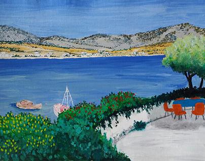The Veranda, Makryyialos, eastern Crete, Europe.