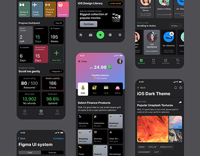 iOS templates library for Figma on Behance