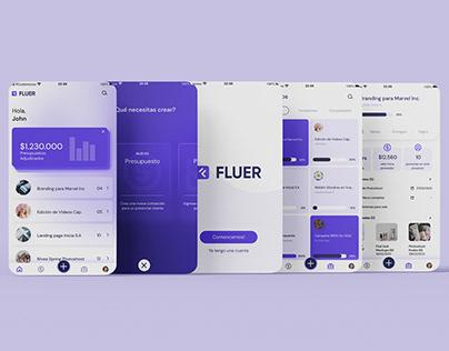 UI para FLUER App en Figma