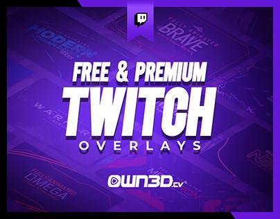 Free & Premium Twitch Overlays | Stream Design Packages