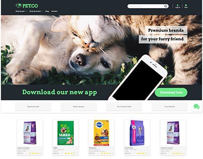 Adobe XD Design Challenge - Pet store