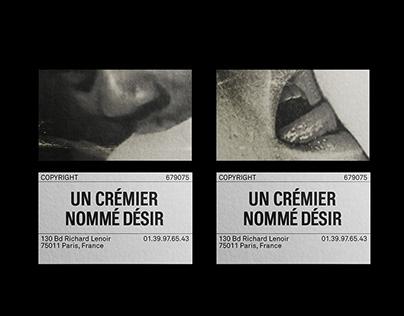 UN CRÉMIER NOMMÉ DÉSIR - Cheesemaker visual identity