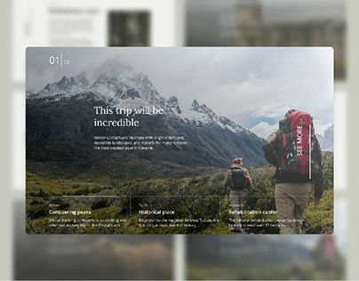 Website for the hiking company | UI/UX Design