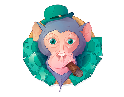 Monkey & Money / Vector illustration