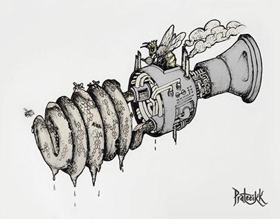 Bulbee Honey Factory Fantasy Concept Art Sketch