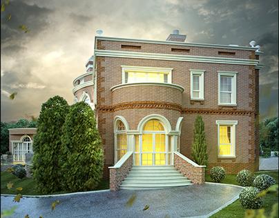 3d visual_english mansion