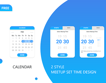 Free Calendar and Meetup Set Time Design