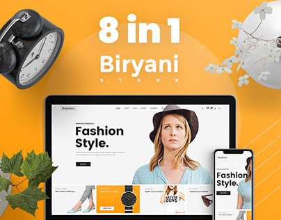8 in 1 Trendy Ecommerce Homepage UX UI Design Project