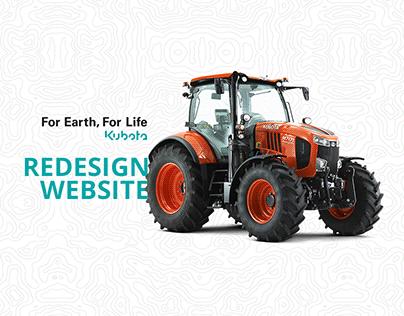 Kubota website redesign