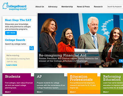 College Board Responsive Website + Marketing