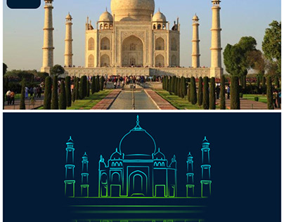 Neon project ( Taj Mahal )