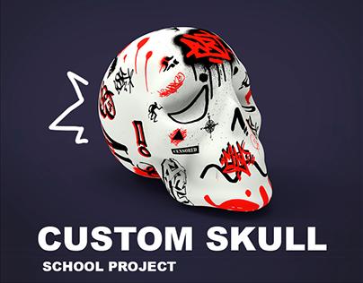 Custom Skull - School Project