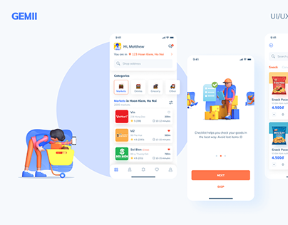 Gemii Delivery App - UI/UX