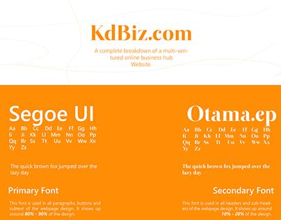 KdBiz Website and Dashboard Design
