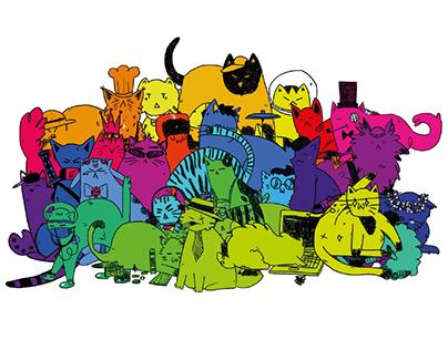 Huevember Cats/Illustration Challenge