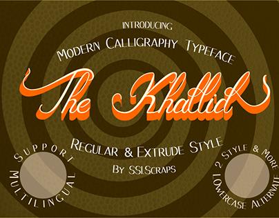 The Khallid modern layered calligraphy