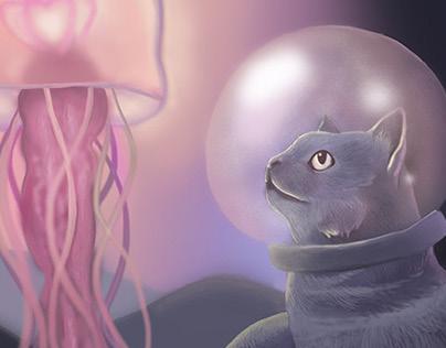 A Cat's Underwater Adventure