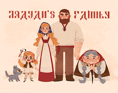 DRAGAN'S FAMILY - characters design