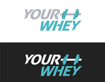 YOUR WHEY - Fitness and protein supplements logo design