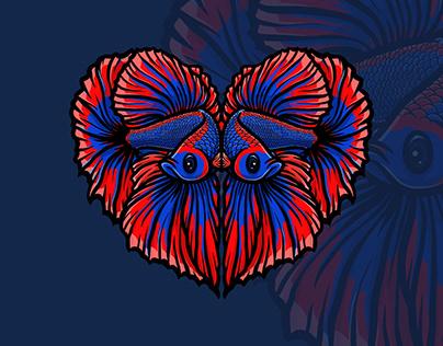 Love Betta | Digital Illustration | T-Shirt Design