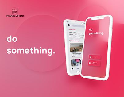 Do Something - UX Case Study on Volunteer App