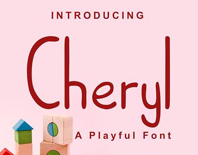 Cheryl (a playful font)