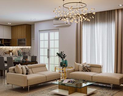 Interior Ruang Keluarga Gaya Modern - Karawang Barat