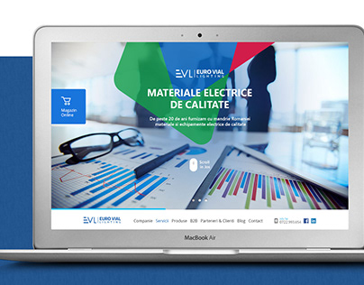 Corporate Website for Electric Parts Supplier