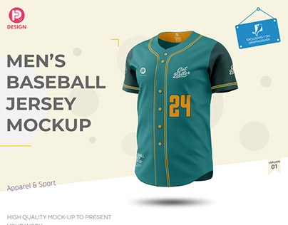 Men's Baseball Jersey Mockup V1
