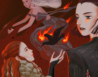 Process of a GOT theme Illustration