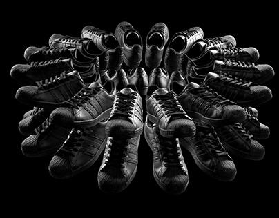 Black Adidas Superstars #3