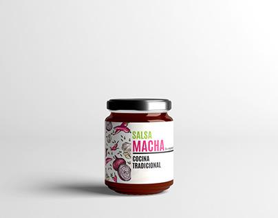 Salsa macha Branding, photoshoot, diseño de etiqueta