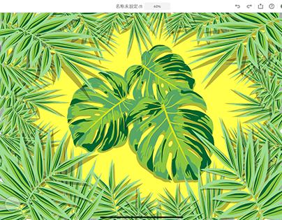 Palm Leaf Illustrator on iPad