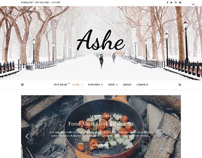 Ashe WebPage Design
