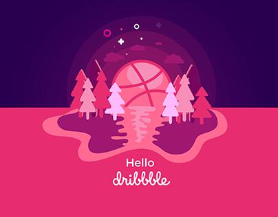 Dribbble Logo Concept