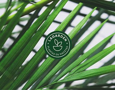 Lagarden plantas en macetas - identidad - Logo