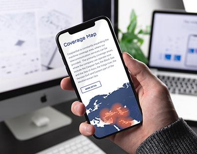 CaspianSat - Corporate site for communication company