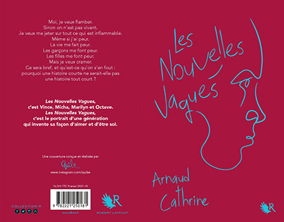 """Couverture du Roman d'A Cathrine """"Les Nouvelles Vagues"""""""