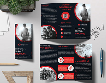 Business Trifold Brochure Title Design
