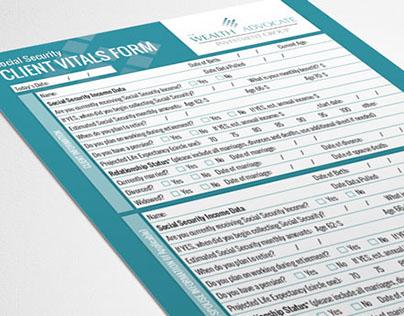 Client Profile Form Design