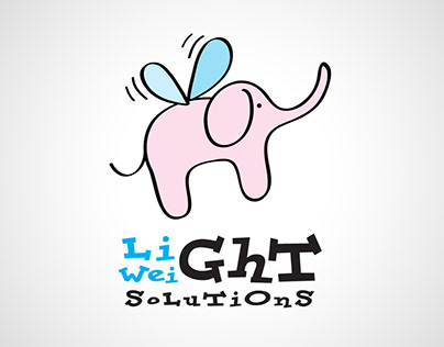 Elephant cartoon business logo icon design designer