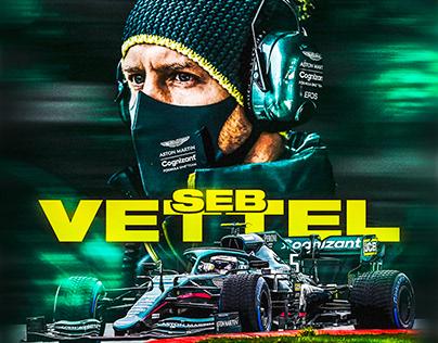 Seb Vettel Pre-Season Poster Design