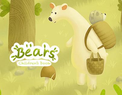 Children's book «Bears»