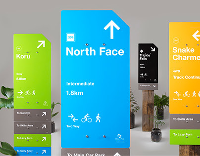 Makara Peak Mountain Bike Park Wayfinding