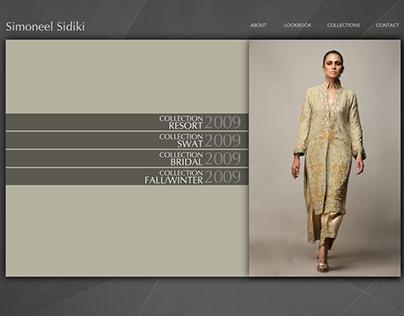Simoneel Sidiki - Fashion store website