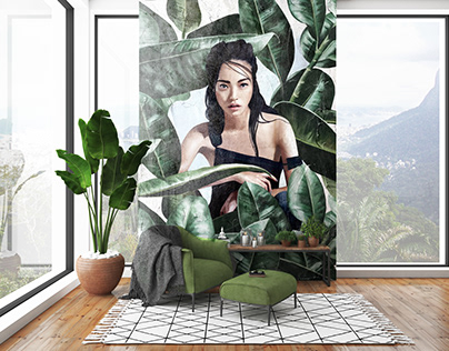 Tropical leaves | Wall Design