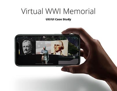Virtual WWI Memorial - AR App: UX/UI Case Study