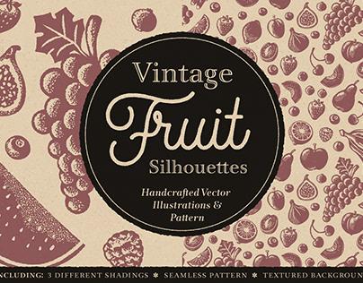 Vintage Fruit Silhouettes